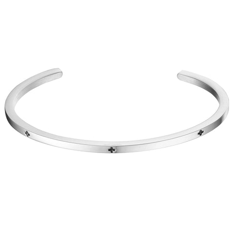 *Mister Level Plus Cuff Bracelet - Chrome