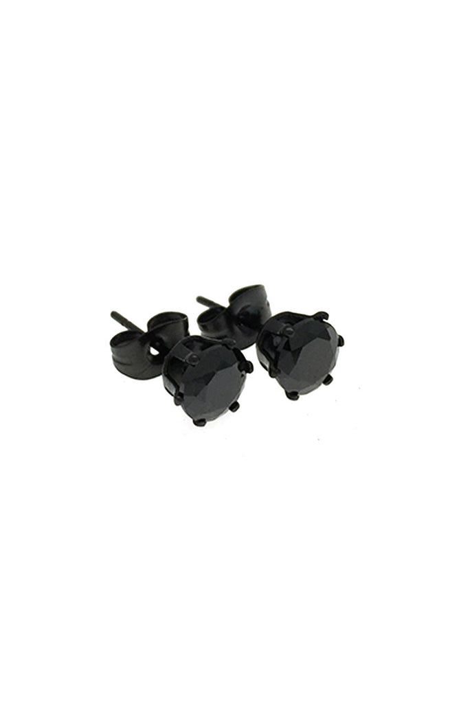 Mister Circle Stud Earrings - Onyx - Mister SFC