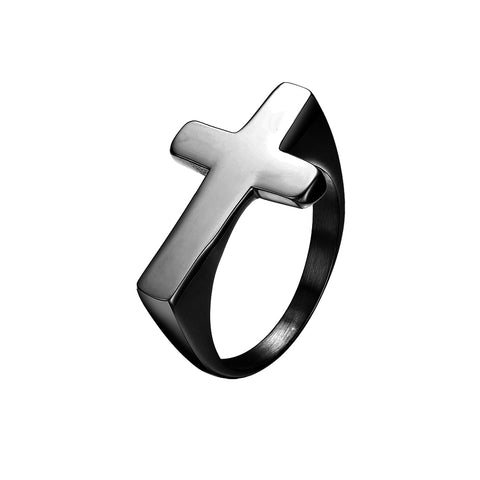 Mister Cross Ring - Black