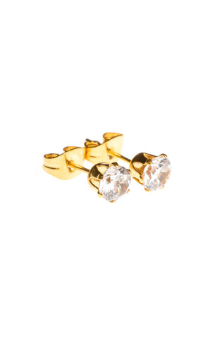 Mister Circle Stud Earrings - Gold - Mister SFC