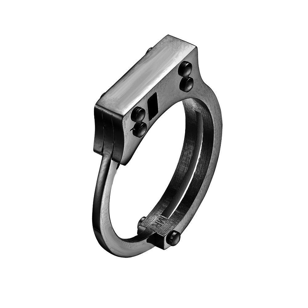 Mister  Handcuff Ring - Black