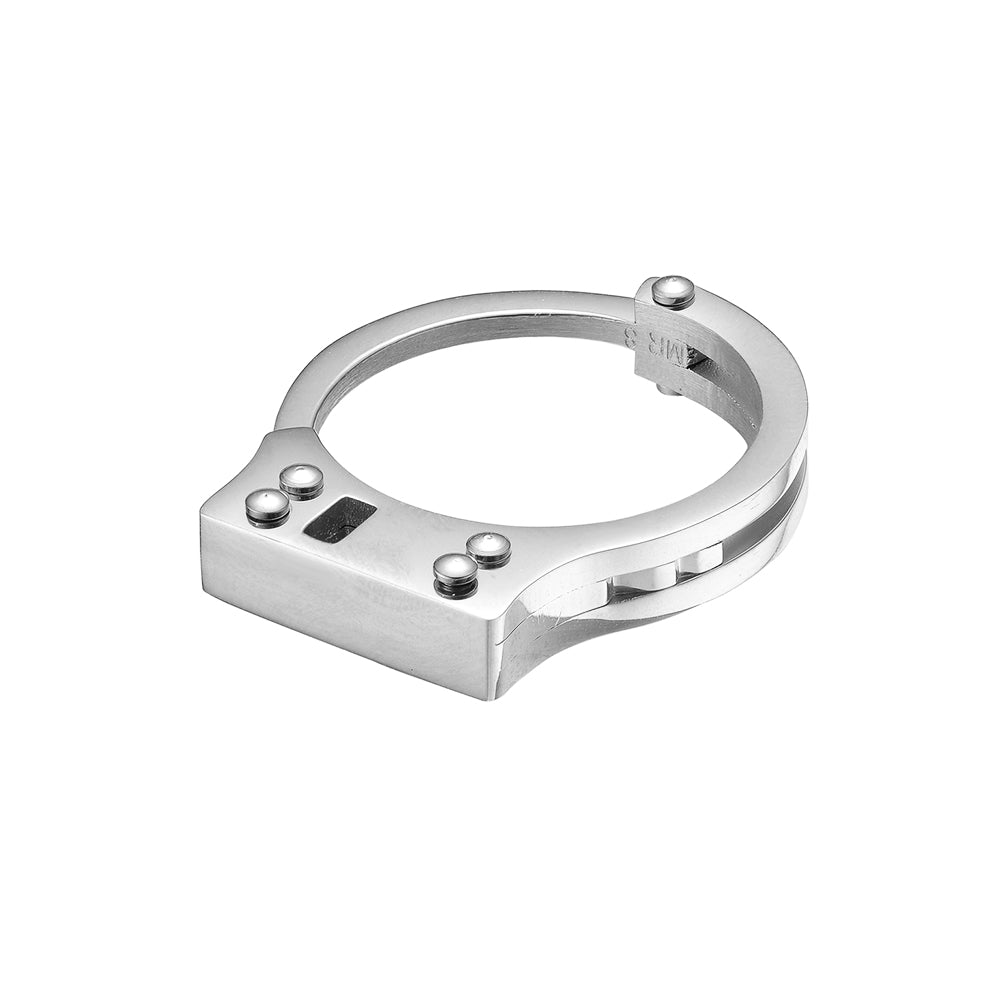 Mister  Handcuff Ring - Chrome