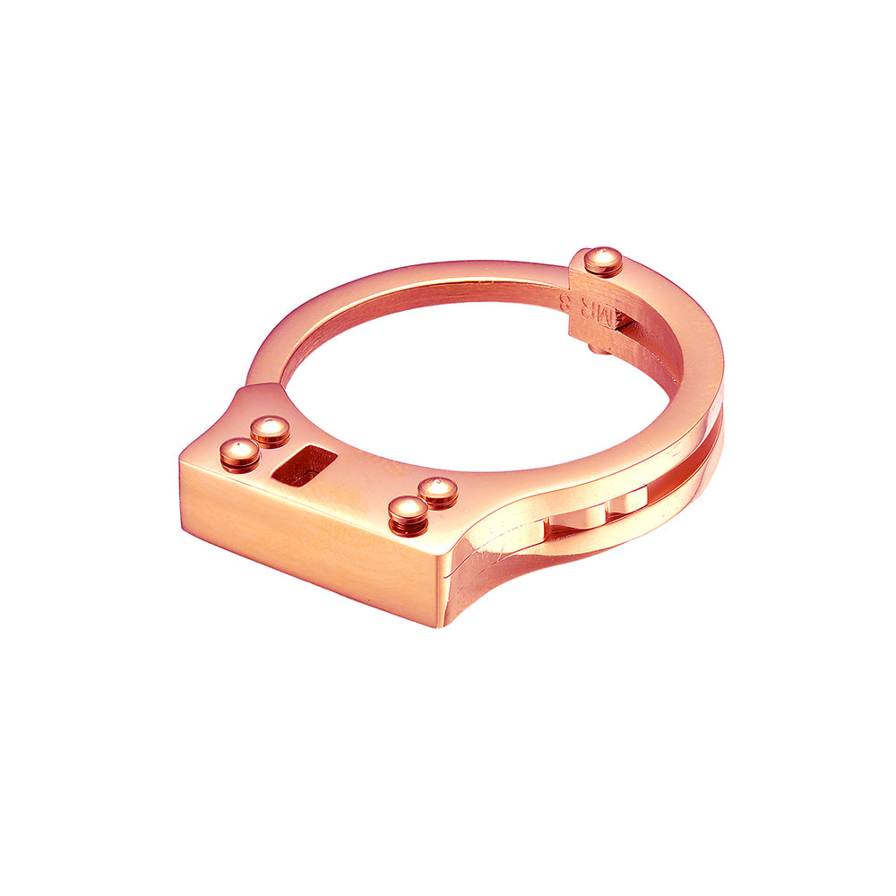 Mister  Handcuff Ring - Rose Gold