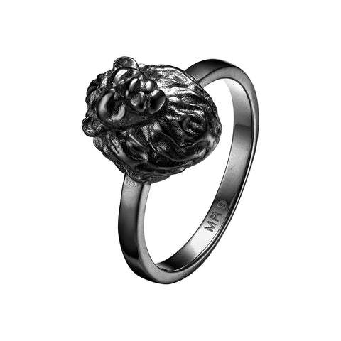 *Mister Lion Ring - Black