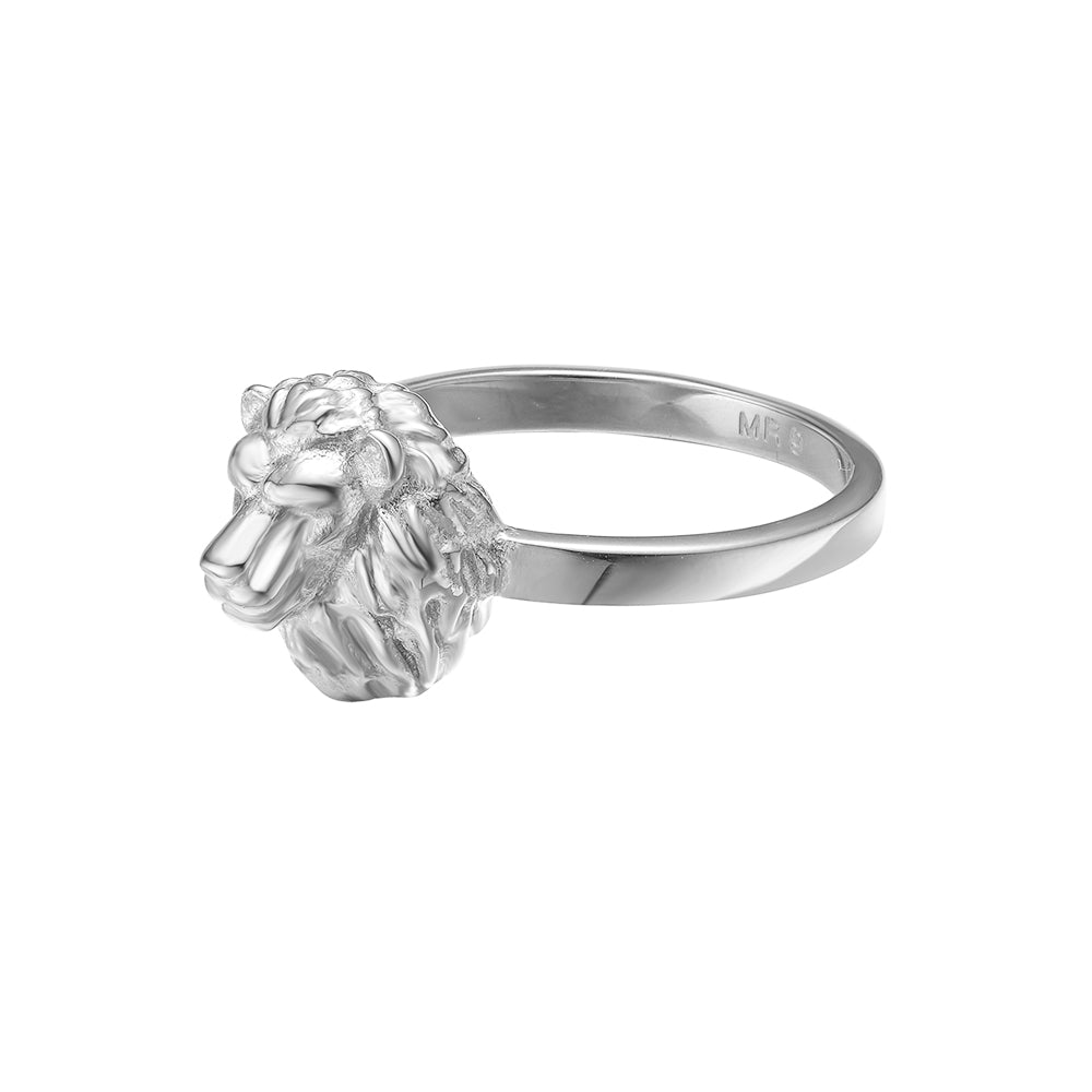 *Mister Lion Ring - Chrome