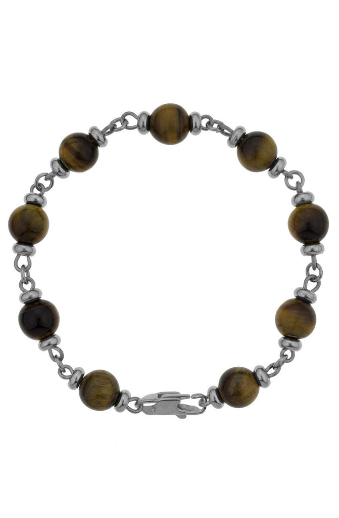 Mister Maxime Bead Bracelet - Tiger & Chrome-ACCESSORIES,FOR HER-Mister SFC