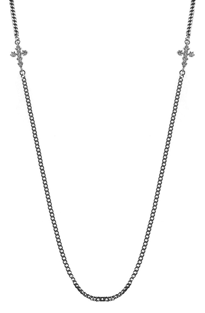 Mister  Double Micro Crucis Necklace - Chrome - Mister SFC - 1