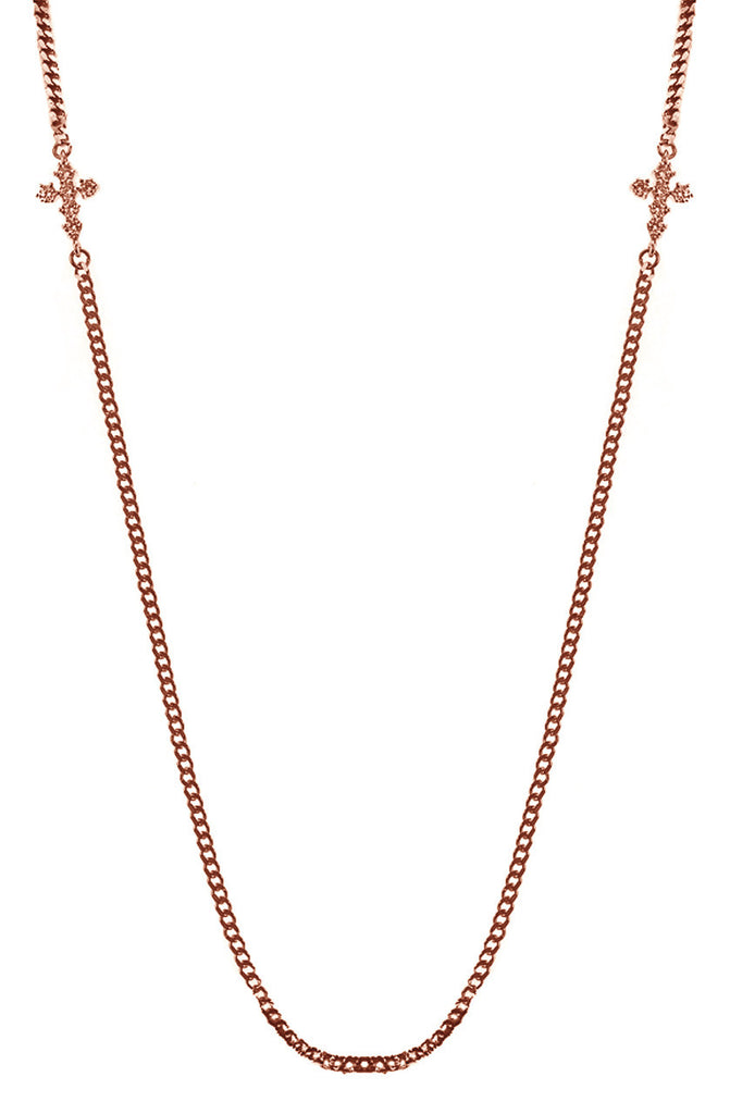 Mister  Double Micro Crucis Necklace - Rose Gold - Mister SFC