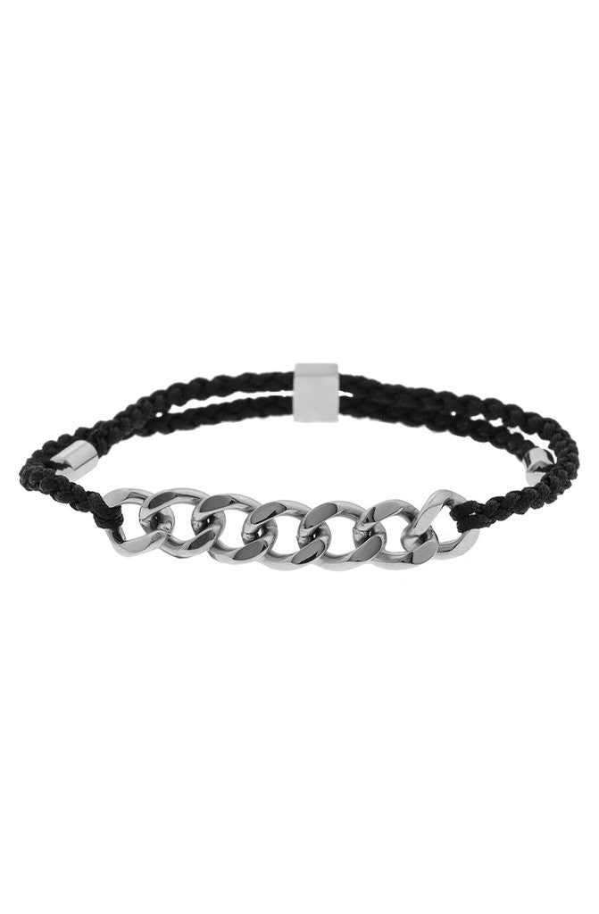 Mister Essence Plus Bracelet - Black & Chrome