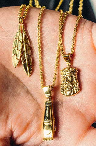 Mister  Feather Necklace - Gold - Mister SFC - 2