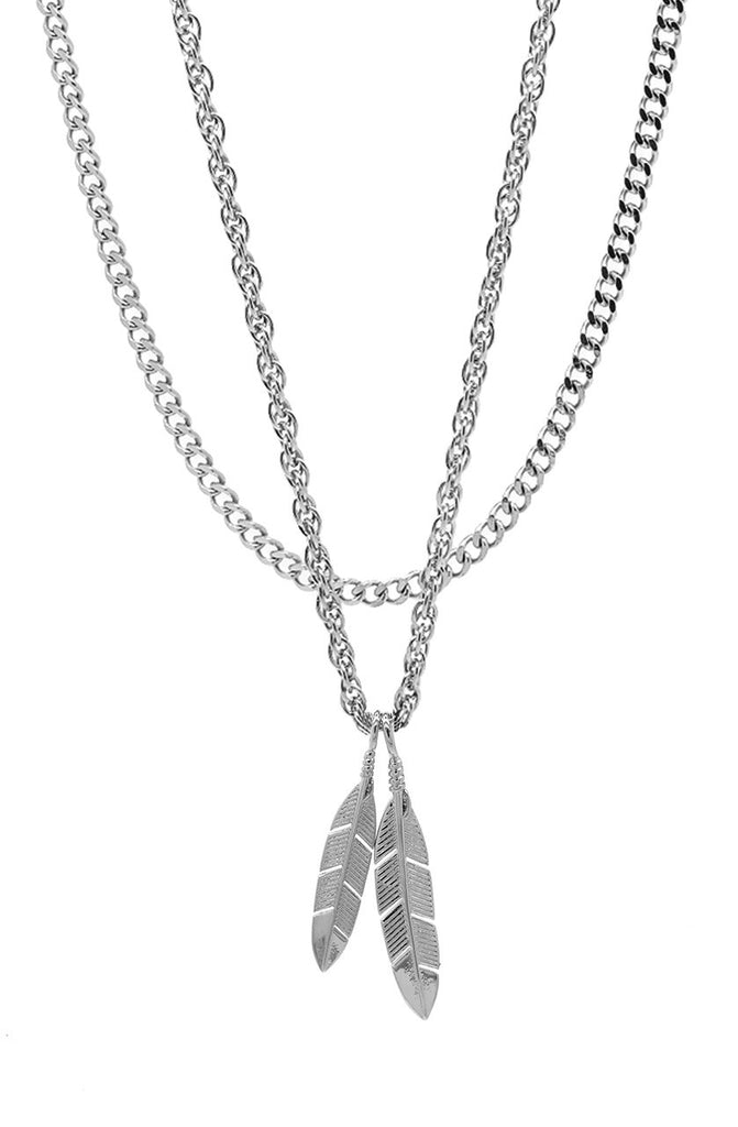 Mister  Feather Necklace - Chrome - Mister SFC