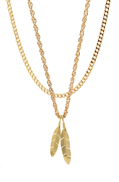 Mister  Feather Necklace - Gold - Mister SFC - 1