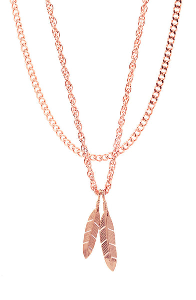 Mister  Feather Necklace - Rose Gold - Mister SFC - 2