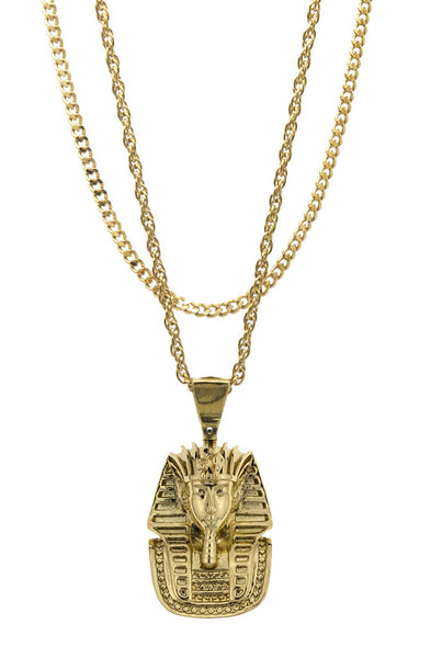 Mister  Micro King Tut Necklace  - Gold