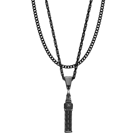 Mister  Big Ben Necklace - Black