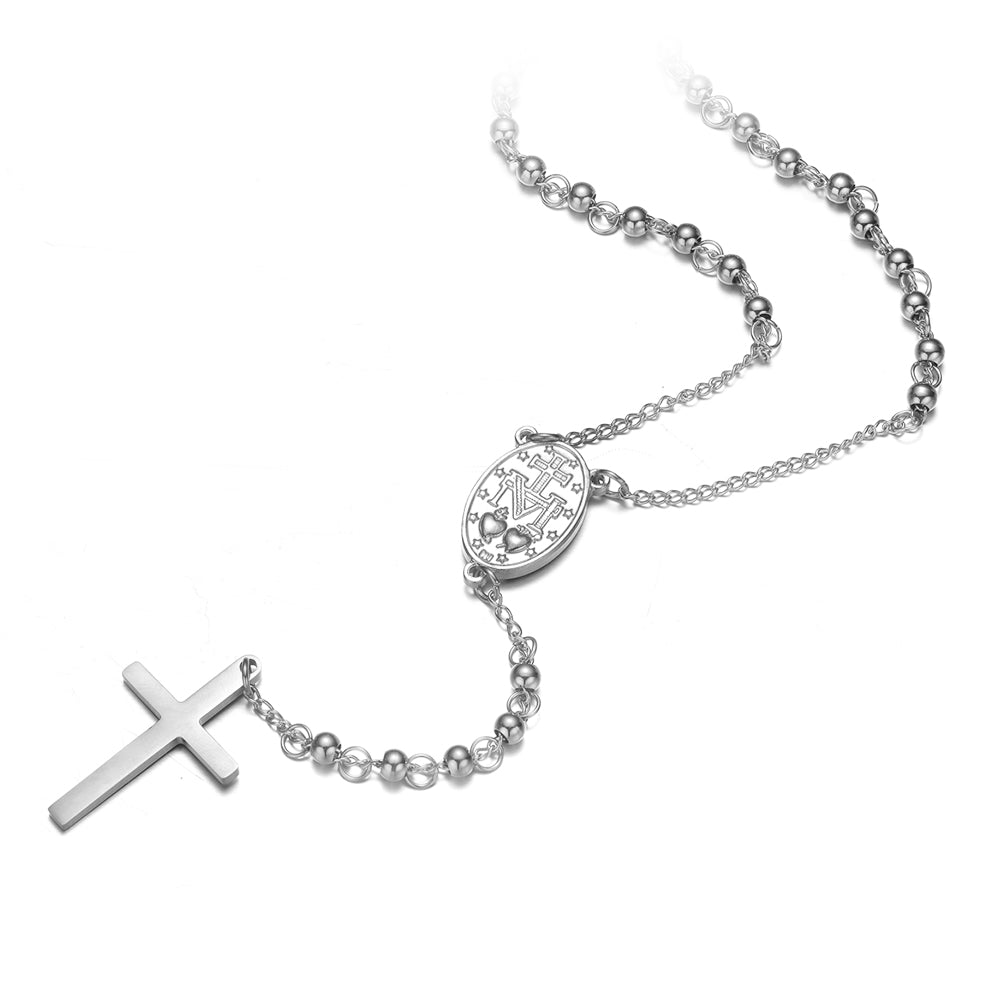 *Mister Rosary Necklace - Chrome