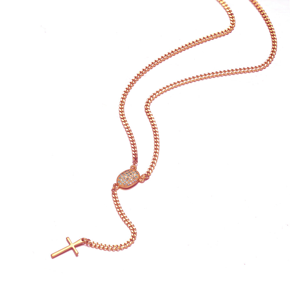 *Mister Rosary Plus Necklace - Rose Gold