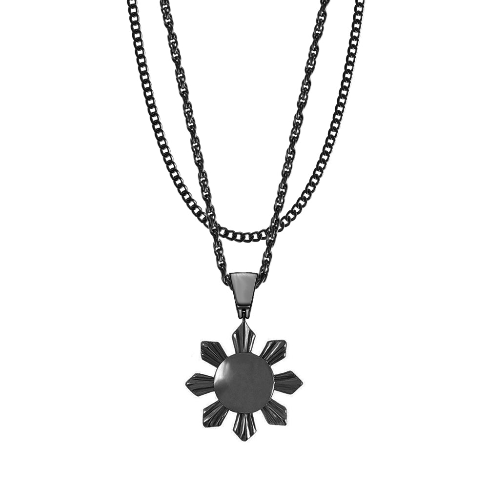 Mister  Sun Necklace- Black