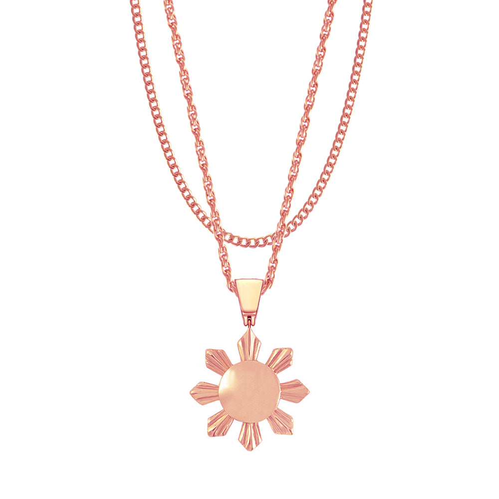 Mister  Sun Necklace- Rose Gold