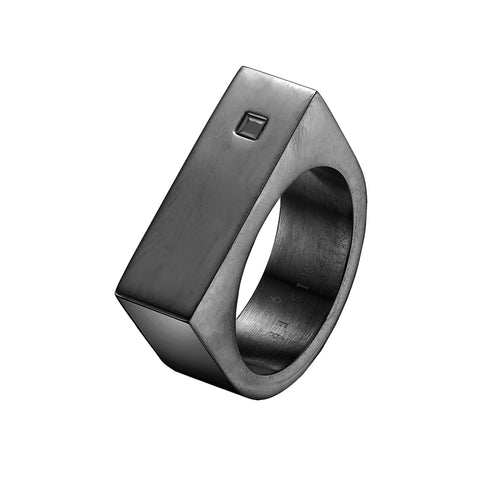Mister Bars Ring - Black & Black
