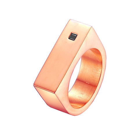 Mister Bars Ring - Rose Gold & Black