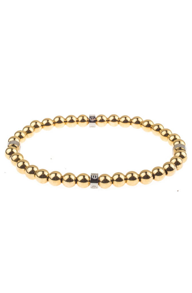 Mister Royal Bead Bracelet - Gold & Chrome - Mister SFC