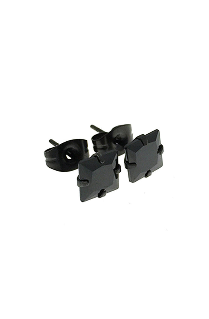 Mister Square Stud Earrings - Onyx - Mister SFC