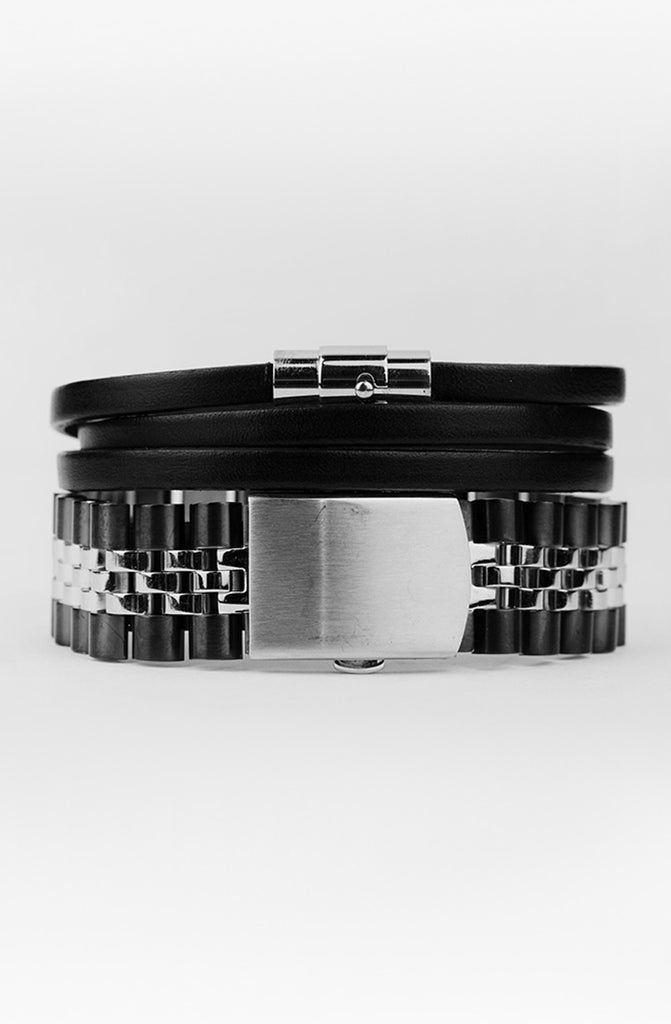 Mister Band Bracelet - Chrome & Black - Mister SFC - 2