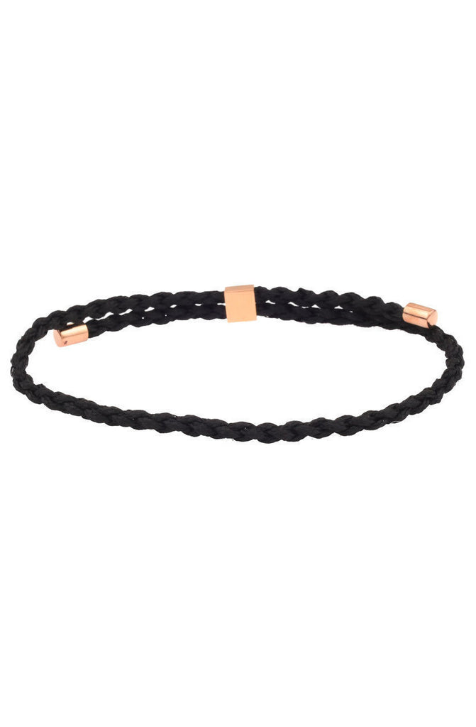 Mister Essential Bracelet - Black & Rose Gold - Mister SFC