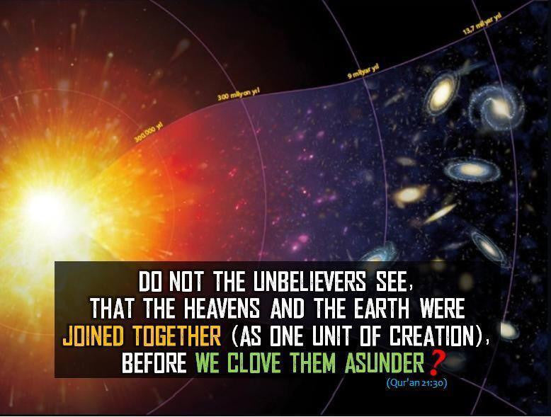 Quran speaks about the Big Bang