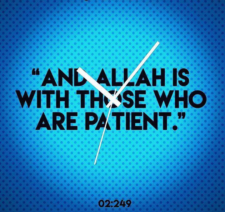 Allah is with the Patient!