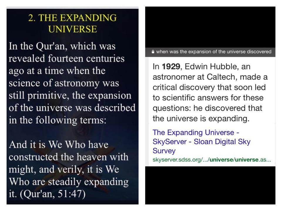 Quran says the Universe Expands