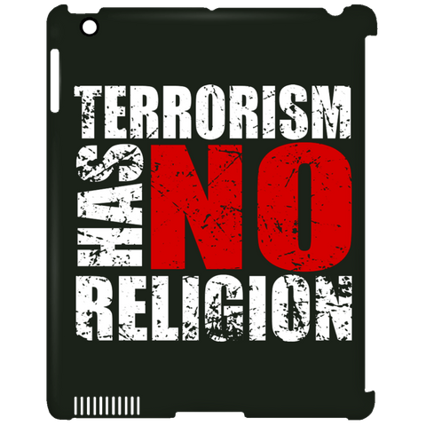TerrorHasNoReligion WHITE iPad Clip Case