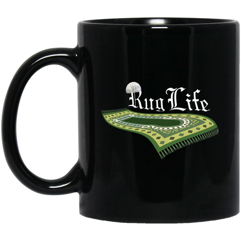 RugLife WHITE 11oz Black Mug