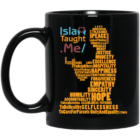 ITM PrayerWords2 YELLOW 11oz Black Mug