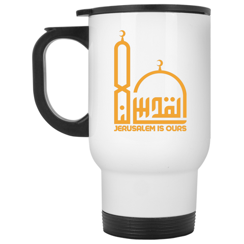 AlQuds.Lana E YELLOW White Travel Mug