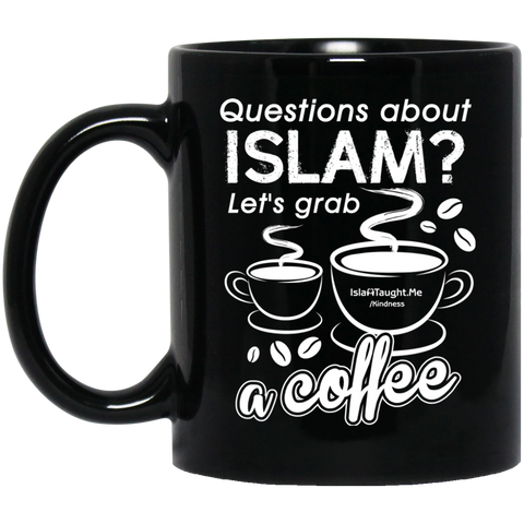ITM Lets.Grab.Coffee W 11oz Black Mug