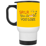 Dont.Snooze.Sala White Travel Mug