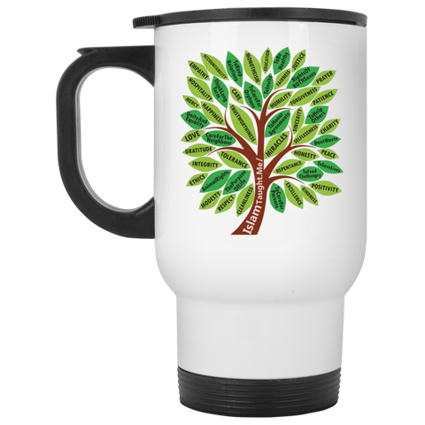 ITM TreeWords COLOR White Travel Mug