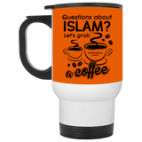 ITM Lets.Grab.Coffee B White Travel Mug