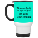 Be.With.Truth BLACK White Travel Mug