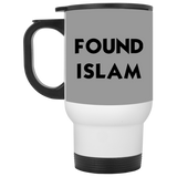 FoundIslam BLACK White Travel Mug