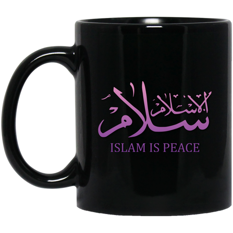 Islam.Is.Peace PINK 11oz Black Mug