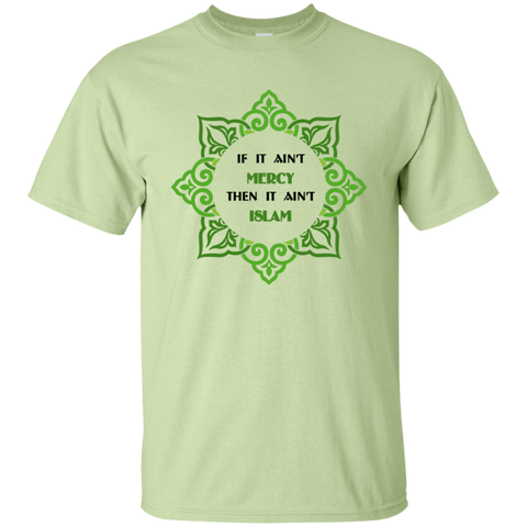 NoLogo Islam.Is.Mercy1 GREENnBLACK Gildan Tshirt - IslamTaught.Me - 1
