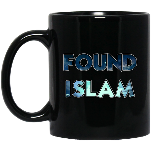 FoundIslam BLUE 11oz Black Mug