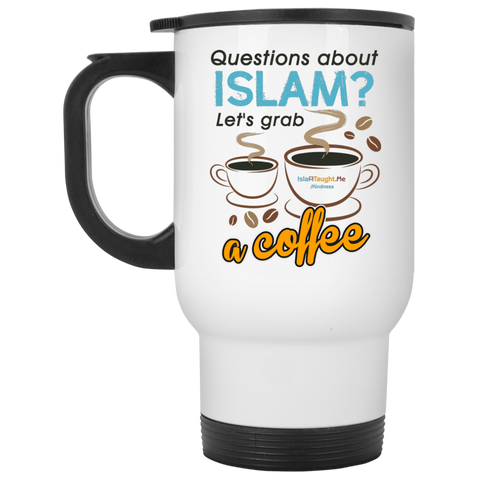 ITM Lets.Grab.Coffee CB White Travel Mug