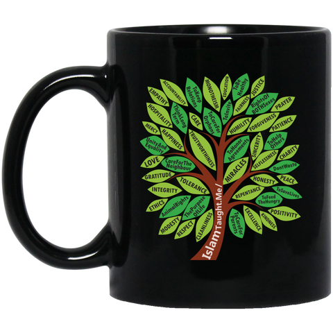 ITM TreeWords COLOR 11oz Black Mug