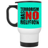 TerrorHasNoReligion BLACK White Travel Mug