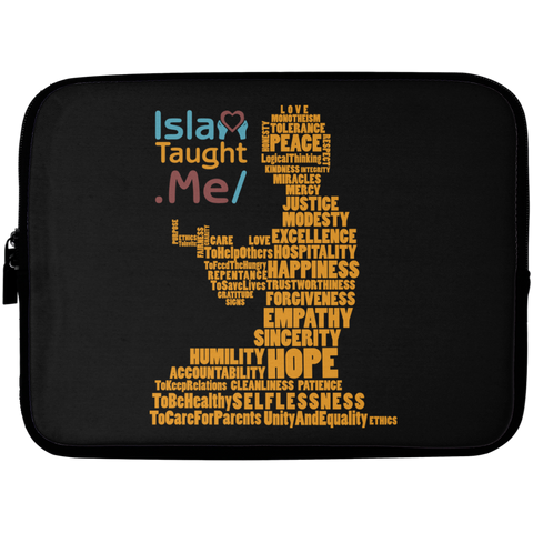 ITM PrayerWords2 YELLOW Laptop Sleeve 10in