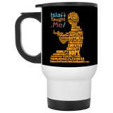 ITM PrayerWords2 YELLOW White Travel Mug